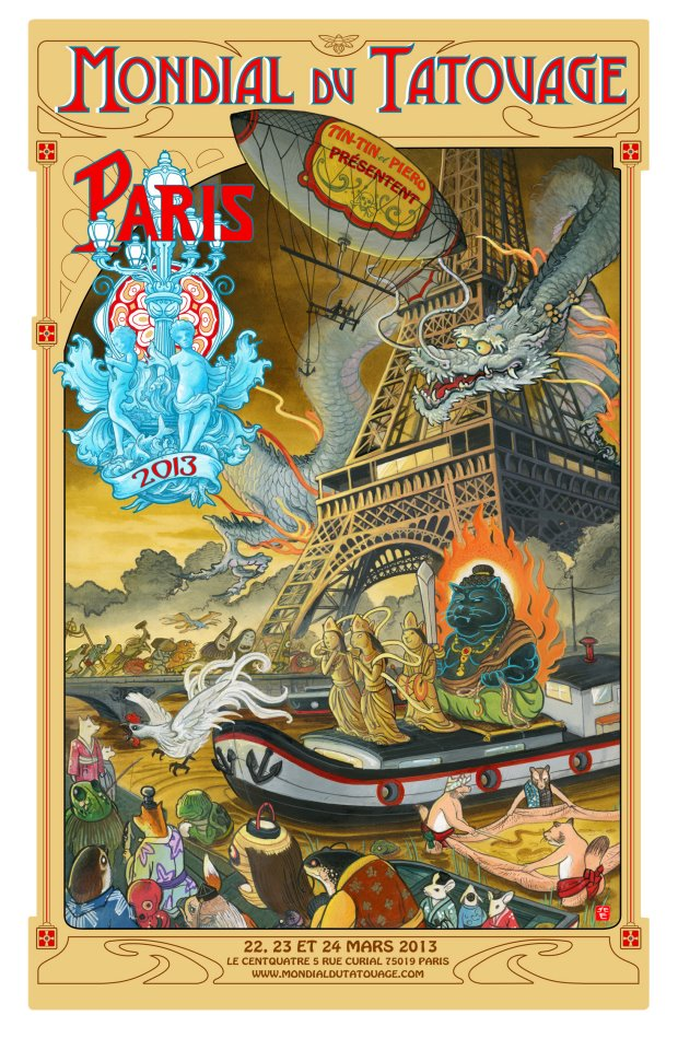 Mondial du tatouage 2013 reportage et photos tattoo - Salon du tattoo paris ...